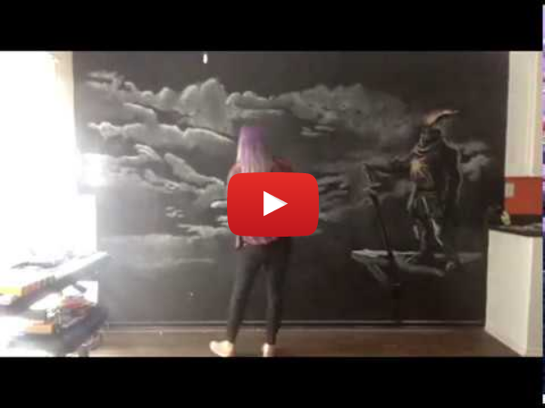 Solaire Chalk Drawing Timelapse
