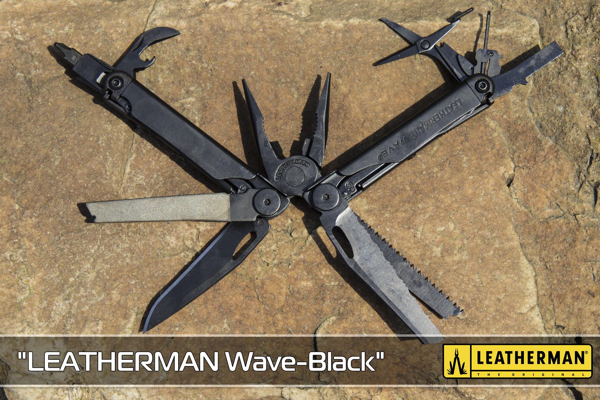 """Мультиінструмент """"LEATHERMAN Wave-Black"""" з чехлом MOLLE"""